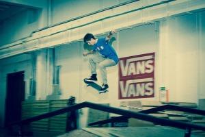 Skateboarding at eXbox